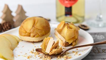 Tatin de foie gras aux pommes